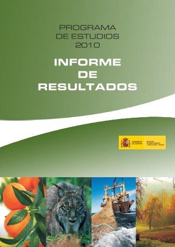 informe de resultados - Ministerio de Agricultura, Alimentación y ...
