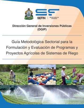 Guía Metodológica Sectorial para la Formulación y Evaluación de ...