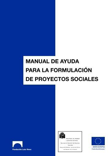 Manual de Ayuda para la Formulación de Proyectos