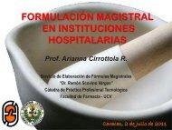 FORMULACIÓN MAGISTRAL EN VENEZUELA