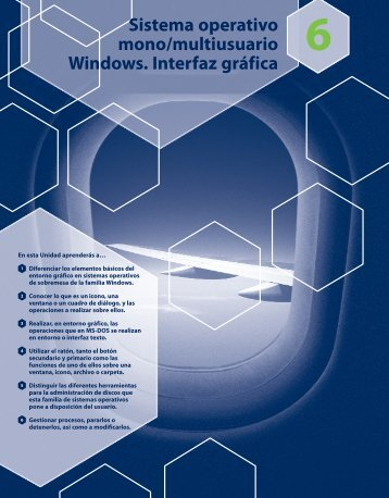 Sistema operativo mono/multiusuario Windows ... - McGraw-Hill