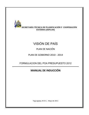 Manual de Capacitación para la Formulación del POA 2012 ...