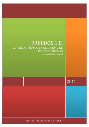 FREEDOS 1.0. - Curso de Técnico de Redes y Sistemas 2011