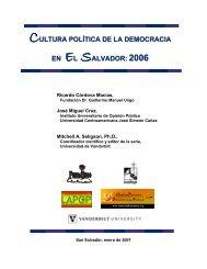 cultura política de la democracia en el salvador - Plataforma ...