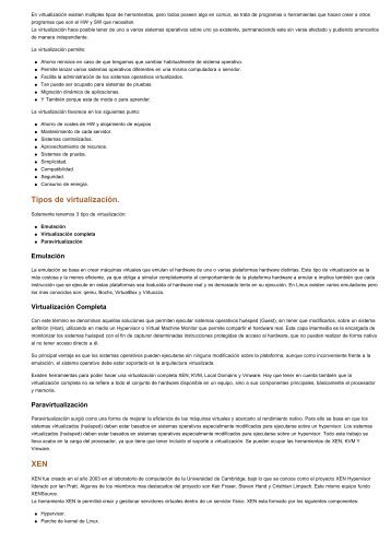 Tipos de virtualización. XEN - Redes-Linux.com