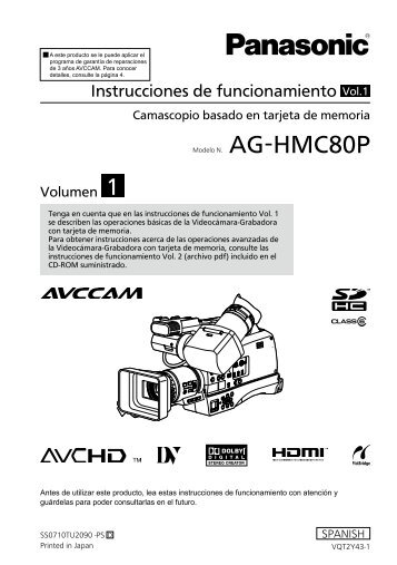 MANUAL DE USUARIO DE AG-HMC80P EN ESPAÑOL PARTE 1(es)