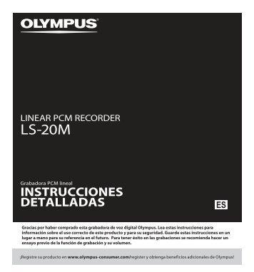 manual de instrucciones - ls-20m - Olympus