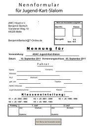 Verantwortlichkeit und Haftungsverzicht der ... - AC Melle eV im ADAC