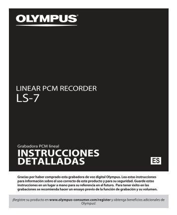 INSTRUCCIONES DETALLADAS - Olympus America