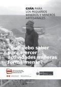 Guía para los Pequeños Mineros y Mineros Artesanales - Page 3