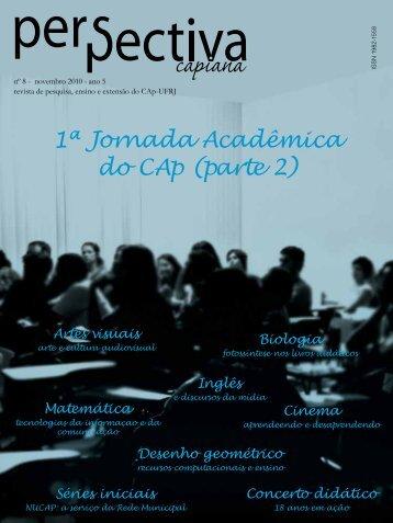 1ª Jornada Acadêmica do CAp (parte 2) - Colégio de Aplicação ...