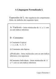 A Linguagem Formalizada L B - Constantes - DCA