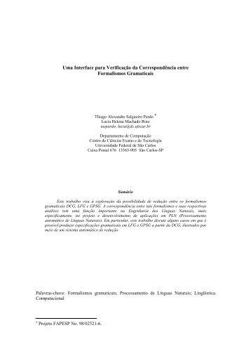 Uma Interface para Verificação da Correspondência entre ... - ICMC
