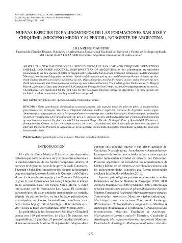 nuevas especies de palinomorfos de las formaciones san josé y ...