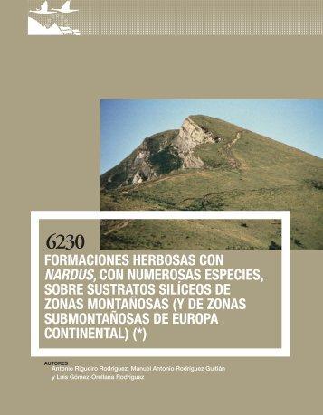 Formaciones herbosas con Nardus, con numerosas ... - Jolube