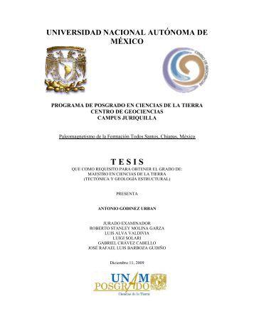 Godínez Urban Antonio - Centro de Geociencias ::.. UNAM