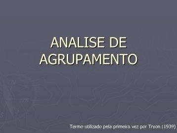 ANALISE DE AGRUPAMENTO - CFH