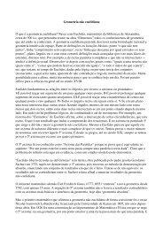 Geometria n o euclidiana - Universidade de Évora