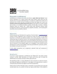 Ayuda e información sobre el sitio - LatinPedia.net