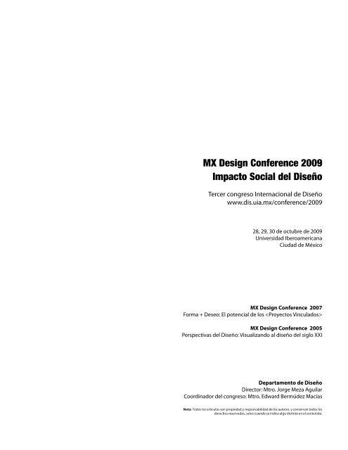 Mx Design Conference 2009 Impacto Social Del Diseño