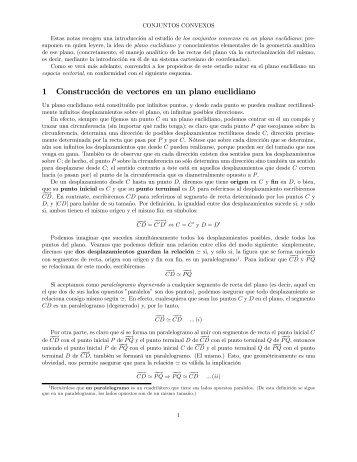 1 Construcción de vectores en un plano euclidiano