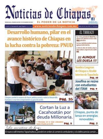 Desarrollo humano, pilar en el avance histórico de Chiapas en la ...