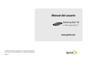 Sprint SPH-D700 Epic 4G Manual del usuario - Sprint Support