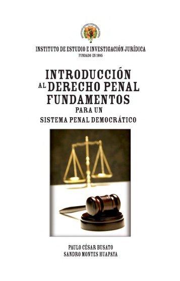 Introducción al Derecho Penal - INEJ