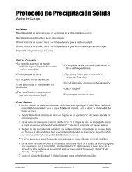 Protocolo de Precipitación Sólida - Programa GLOBE Argentina