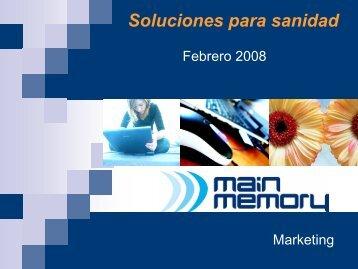Soluciones sector Sanitario - Main Memory