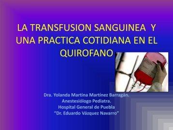la transfusion sanguinea y una practica cotidiana en el ... - AMFH