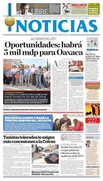 Octubre 2011 - Noticias Voz e Imagen de Oaxaca