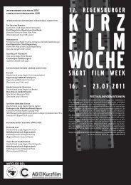 SHORT FILM WEEK 16. – 23.03.2011 - Regensburger Kurzfilmwoche