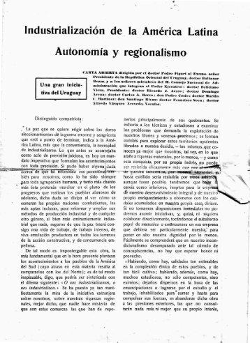 Industrialización de la América Latina. Autonomía y ... - Figuras