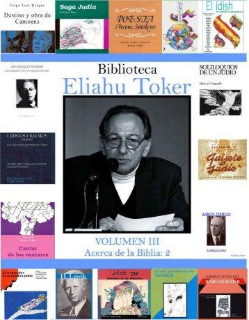"""Biblioteca """"Eliahu Toker"""" Volumen III-1"""