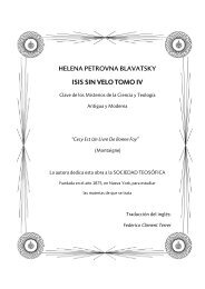 Isis sin Velo Tomo IV - Sociedad Teosófica Española
