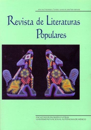 Contenido - Repositorio de la Facultad de Filosofía y Letras. UNAM ...
