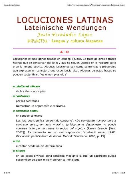 Locuciones Latinas