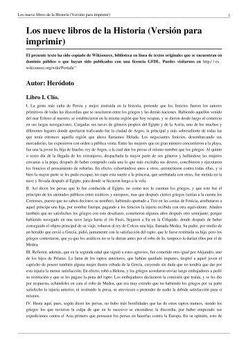 Los nueve libros de la Historia (Versión para ... - Mkmouse.com.br