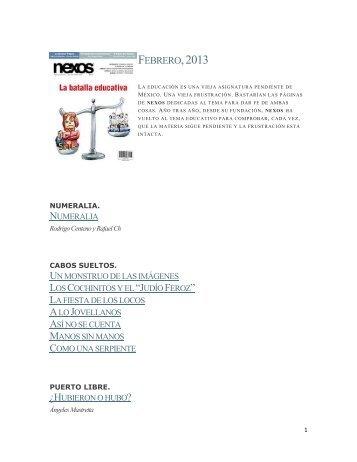 FEBRERO,2013 - Distribuidora Internacional de Revistas, SA de CV