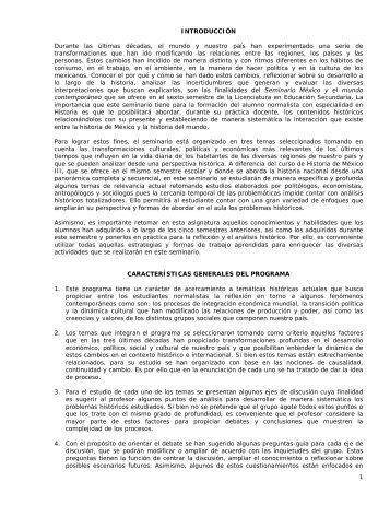 México y el mundo contemporáneo - Escuela Normal Superior