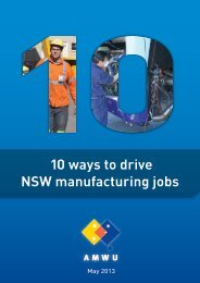10 ways to drive NSW manufacturing jobs