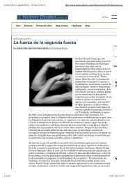 La fuerza de la segunda fuerza · El Nuevo Diario - Nica-erlangen.de