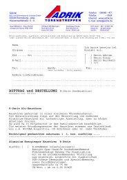 AUFTRAG und BESTELLUNG R-Serie Sonderaktion! - Adrik GmbH