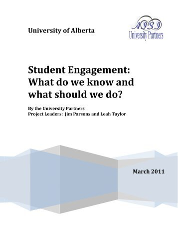 Student Engagement: What do we know and what should we do?