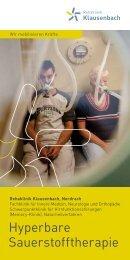 Hyperbare Sauerstofftherapie - Rehaklinik Klausenbach