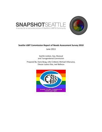 Seattle LGBT Commission Report of Needs Assessment Survey 2010 June 2011