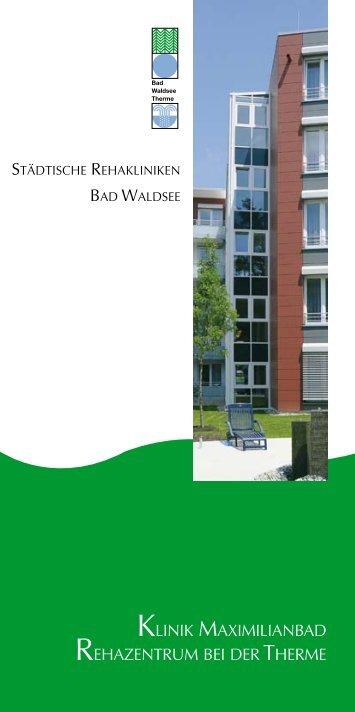 Klinikprospekt - Rehakliniken Waldsee