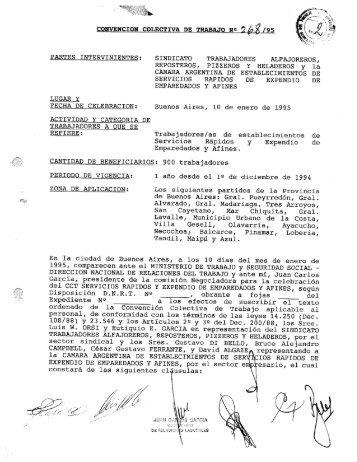 convencion colectiva de trabajo n /9s, partes intervinientes - Laboralis