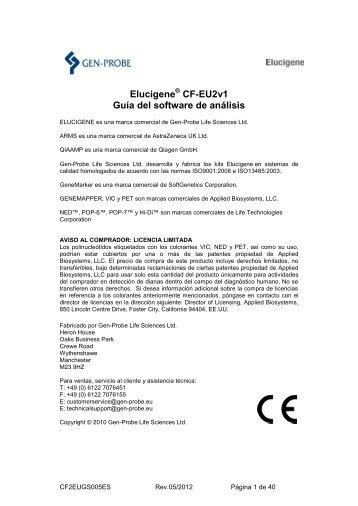 CF-EU2v1 Guía del software de análisis - Gen-Probe, Inc.